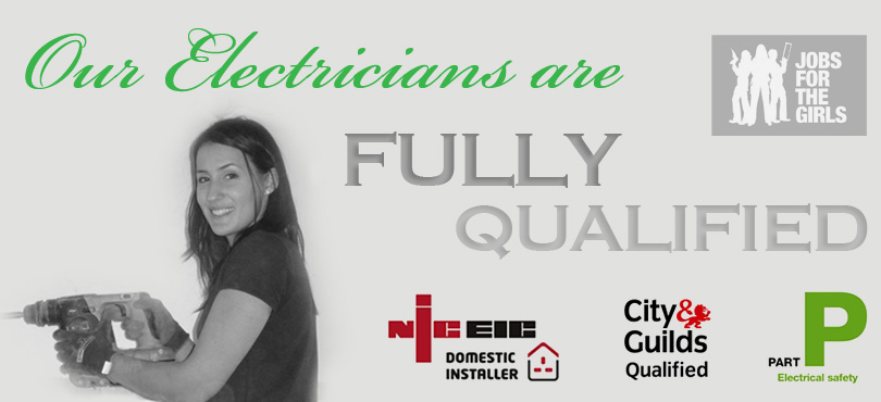 female electrician kelly electrics home